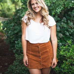 Courdoroy Burnt Orange Skirt